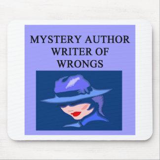 a funny mystery writer joke mouse mat