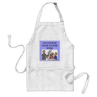a funny waiter joke apron