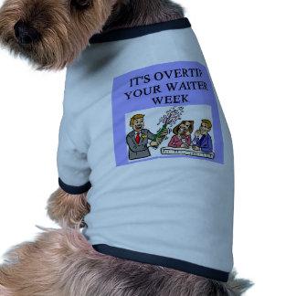 a funny waiter joke pet tshirt