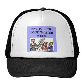 a funny waiter joke hat