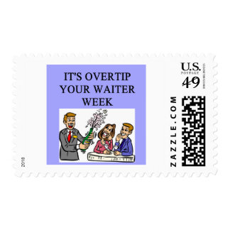 a funny waiter joke stamps