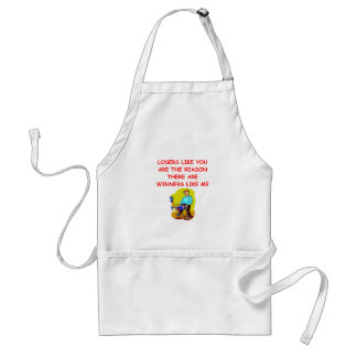 a funny winners and losers joke aprons