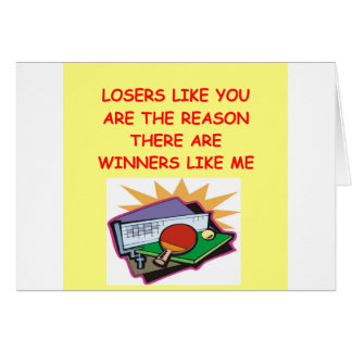 a funny winners and losers joke card