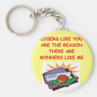 a funny winners and losers joke keychain