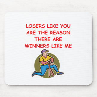 a funny winners and losers joke mouse pad