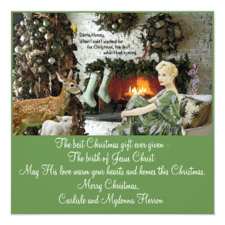A fur for Christmas Card