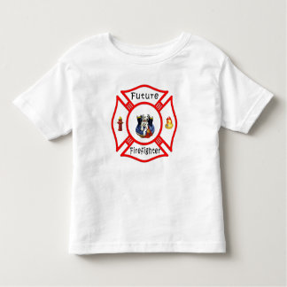A Future Firefighter Red Maltese Toddler T-shirt