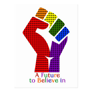 A Future to Believe in LGBT Postcard