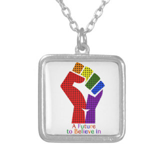 A Future to Believe in LGBT Silver Plated Necklace