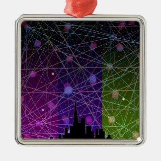 A Futurist's Stary Night. Metal Ornament