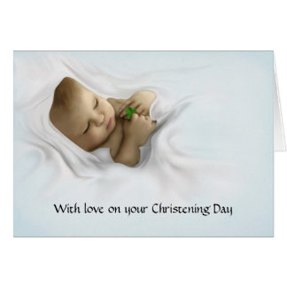 A Gaelic Christening Blessing Greeting Card