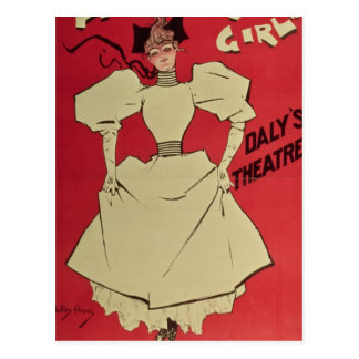 A Gaiety Girl at the Daly's Theatre Postcard