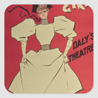 A Gaiety Girl at the Daly's Theatre Square Sticker