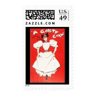 A Gaiety Girl Vintage Stamp