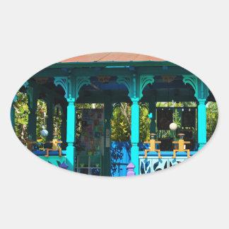 A Gallery in the Garden Oval Sticker