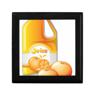 A gallon of orange juice jewelry boxes