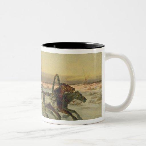 A Galloping Winter Troika at Dawn Mugs