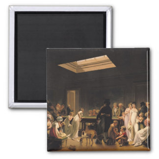 A Game of Billiards, 1807 2 Inch Square Magnet