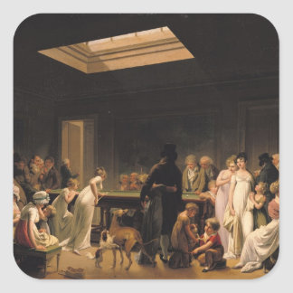 A Game of Billiards, 1807 Square Stickers