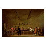 A Game of Billiards, c.1720-26 Print