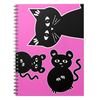 A Game of Cat and Mouse Spiral Notebook