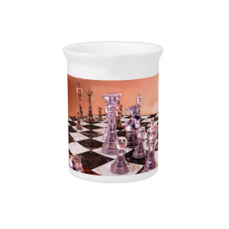 A Game of Chess Beverage Pitcher
