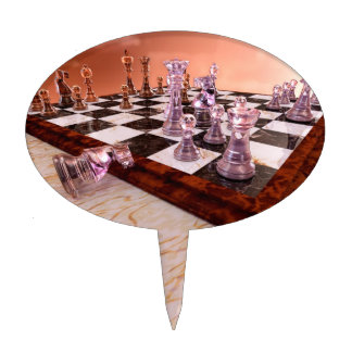 A Game of Chess Cake Toppers