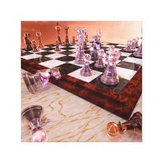 A Game of Chess Canvas Print