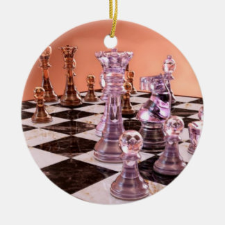 A Game of Chess Ceramic Ornament