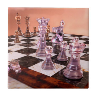 A Game of Chess Ceramic Tile