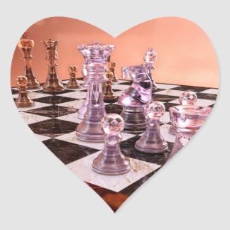 A Game of Chess Heart Sticker