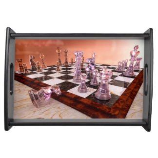 A Game of Chess Serving Tray