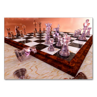 A Game of Chess Table Cards