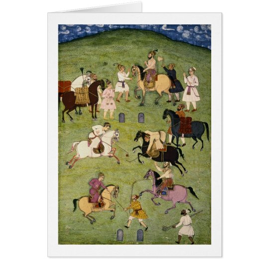 A Game of Polo, from the Large Clive Album Card
