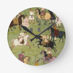 A Game of Polo, from the Large Clive Album Round Wall Clock