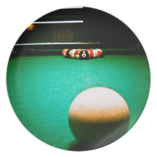 A Game of Pool Plate