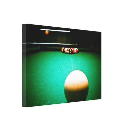 A Game of Pool Stretched Canvas Print