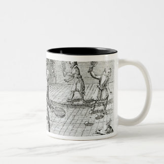 A Game of Real Tennis with Sport Ballads below Coffee Mug