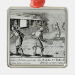A Game of Real Tennis with Sport Ballads below Ornament