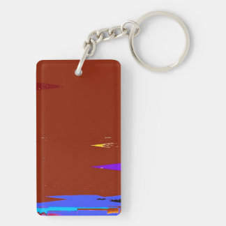 A Game Sunset Abstract Expressionism Keyring