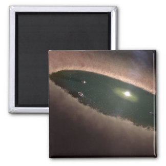 A gap in a protoplanetary, or planet-forming magnets