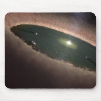 A gap in a protoplanetary, or planet-forming mouse pad
