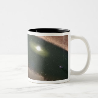 A gap in a protoplanetary, or planet-forming Two-Tone coffee mug