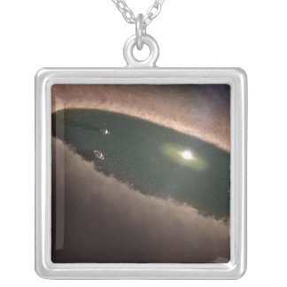 A gap in a protoplanetary, or planet-forming square pendant necklace