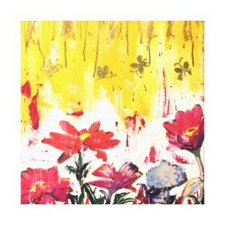 A garden affair canvas print