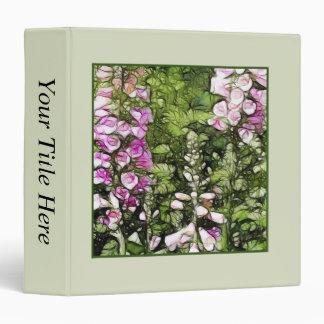 A garden full of Foxgloves Vinyl Binders