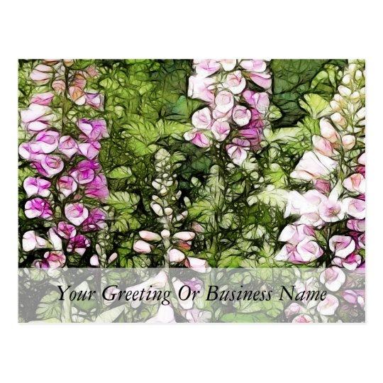 A garden full of Foxgloves Postcard