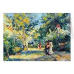 A Garden in Montmartre by Pierre Renoir Greeting Card