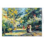 A Garden in Montmartre by Pierre Renoir Greeting Cards