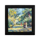 A Garden in Montmartre by Pierre Renoir Keepsake Box
